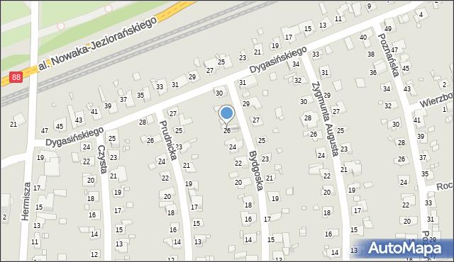 Zabrze, Bydgoska, 26, mapa Zabrza