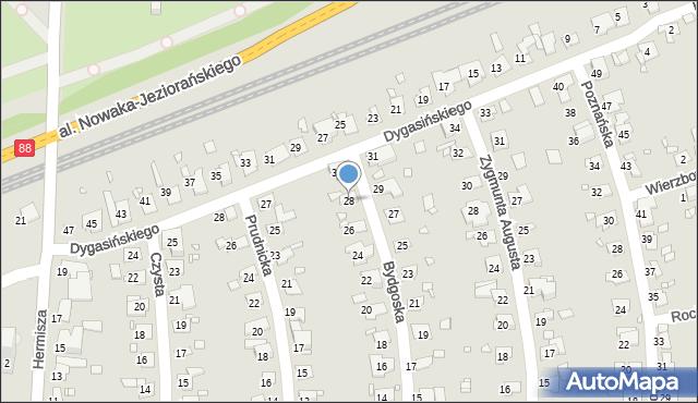 Zabrze, Bydgoska, 28, mapa Zabrza
