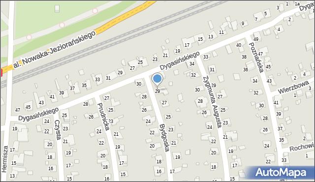Zabrze, Bydgoska, 29, mapa Zabrza