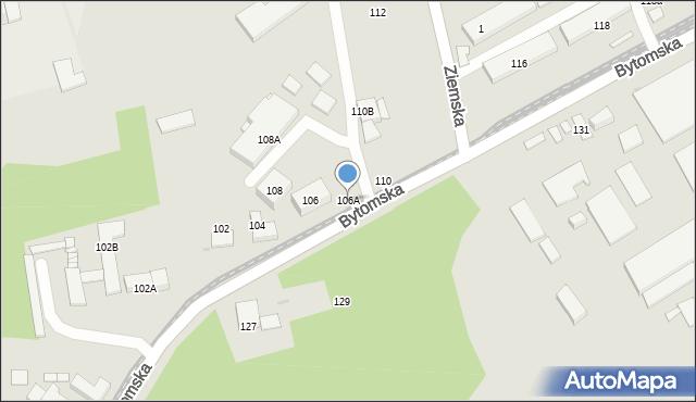 Zabrze, Bytomska, 106A, mapa Zabrza