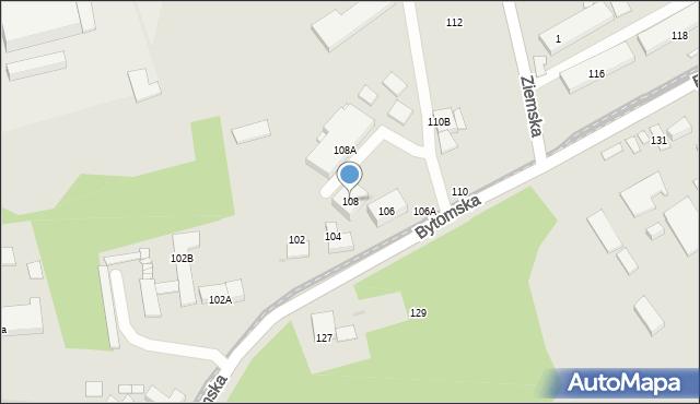 Zabrze, Bytomska, 108, mapa Zabrza