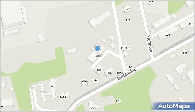 Zabrze, Bytomska, 108A, mapa Zabrza