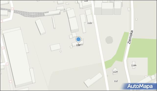 Zabrze, Bytomska, 108f, mapa Zabrza