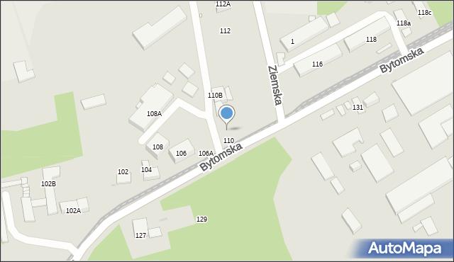 Zabrze, Bytomska, 110A, mapa Zabrza