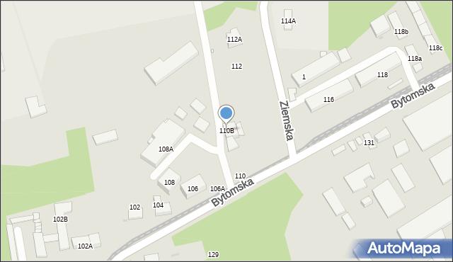 Zabrze, Bytomska, 110B, mapa Zabrza
