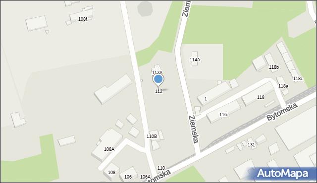 Zabrze, Bytomska, 112, mapa Zabrza