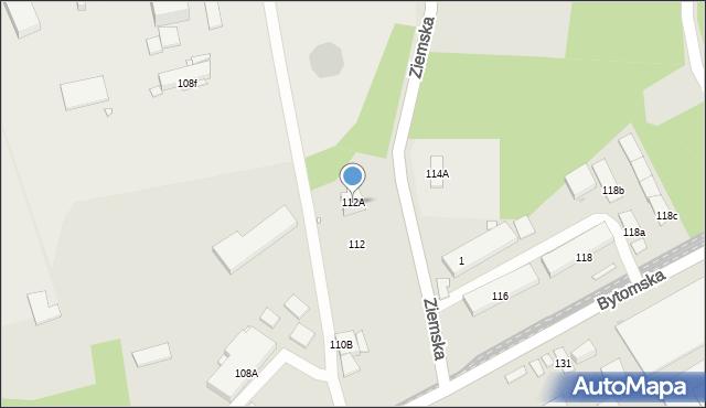 Zabrze, Bytomska, 112A, mapa Zabrza
