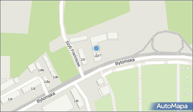 Zabrze, Bytomska, 122, mapa Zabrza