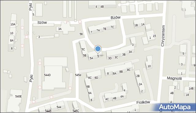 Ruda Śląska, Bzów, 5, mapa Rudy Śląskiej