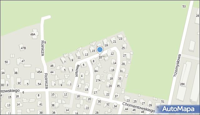 Chełm, Cementowa, 10, mapa Chełma
