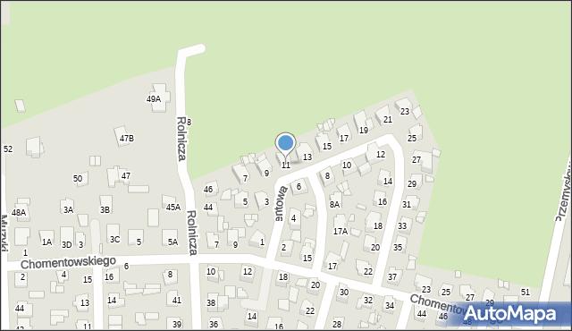Chełm, Cementowa, 11, mapa Chełma