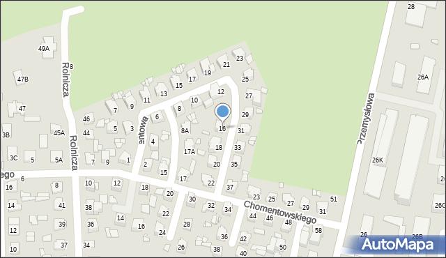 Chełm, Cementowa, 16, mapa Chełma