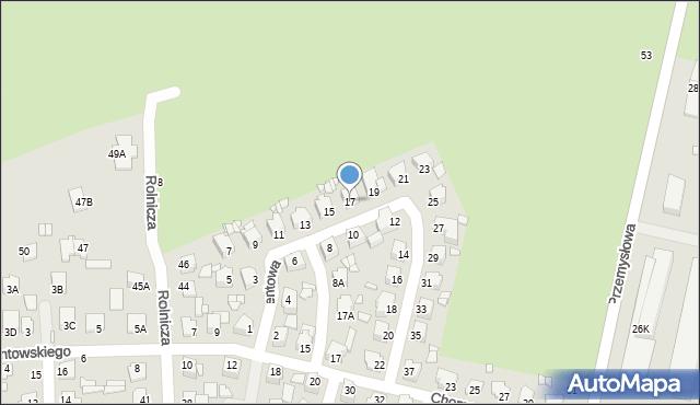 Chełm, Cementowa, 17, mapa Chełma