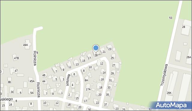 Chełm, Cementowa, 19, mapa Chełma