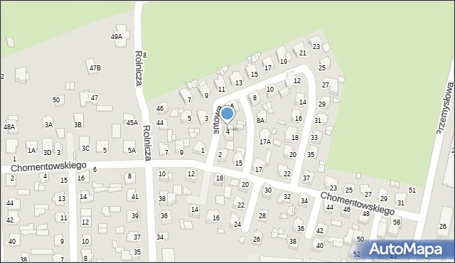 Chełm, Cementowa, 4, mapa Chełma