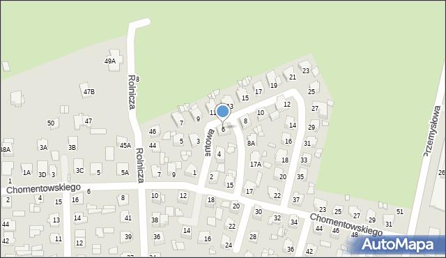 Chełm, Cementowa, 6, mapa Chełma