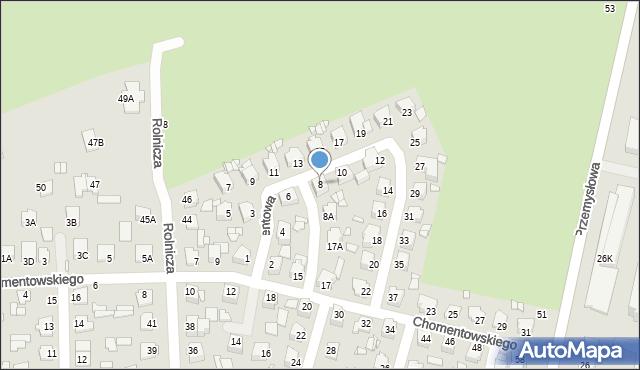 Chełm, Cementowa, 8, mapa Chełma