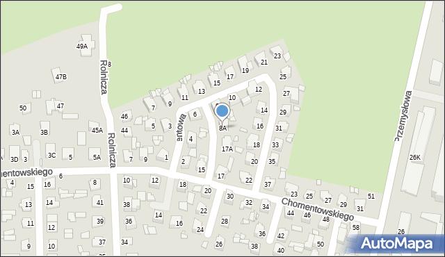Chełm, Cementowa, 8A, mapa Chełma