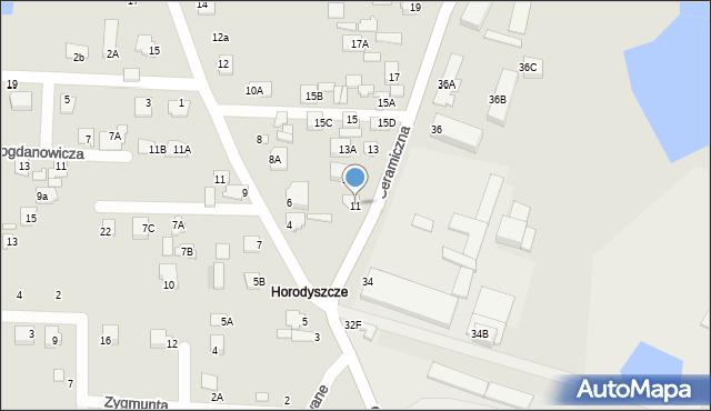 Chełm, Ceramiczna, 11, mapa Chełma