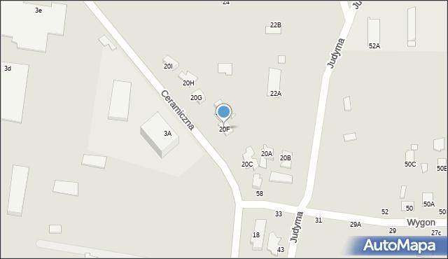 Chełm, Ceramiczna, 20F, mapa Chełma