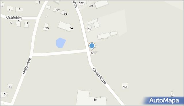 Chełm, Ceramiczna, 32, mapa Chełma
