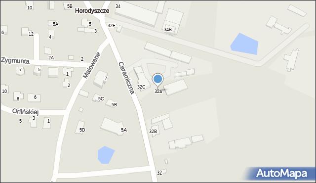 Chełm, Ceramiczna, 32a, mapa Chełma