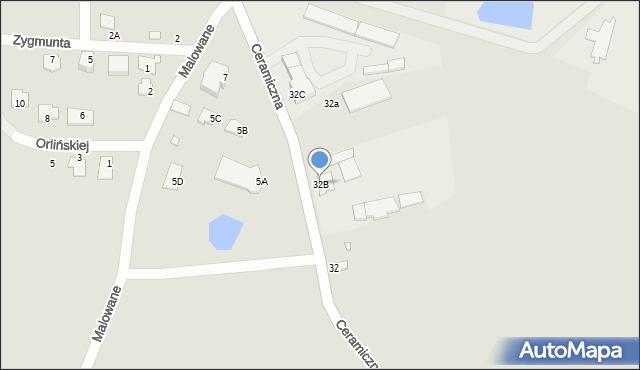 Chełm, Ceramiczna, 32B, mapa Chełma