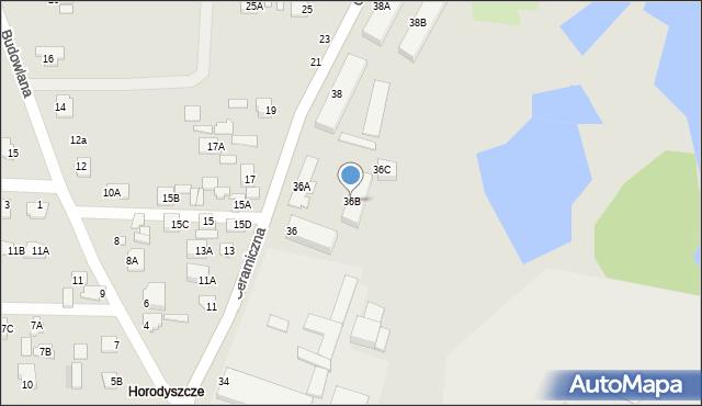 Chełm, Ceramiczna, 36B, mapa Chełma