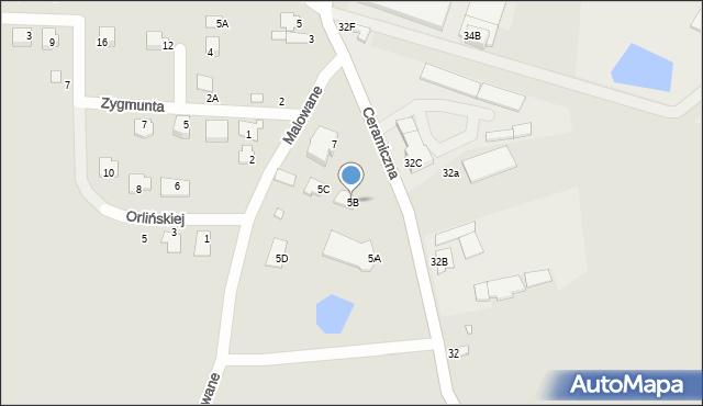 Chełm, Ceramiczna, 5B, mapa Chełma