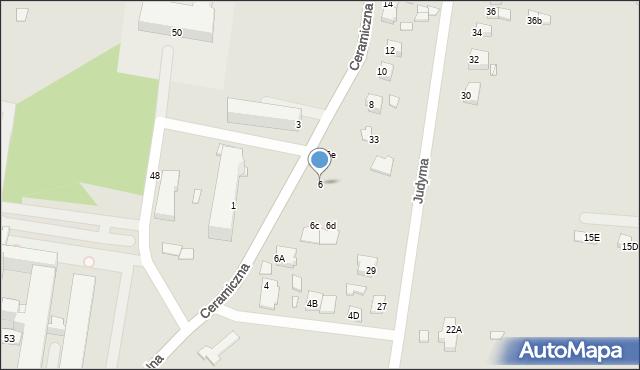 Chełm, Ceramiczna, 6, mapa Chełma