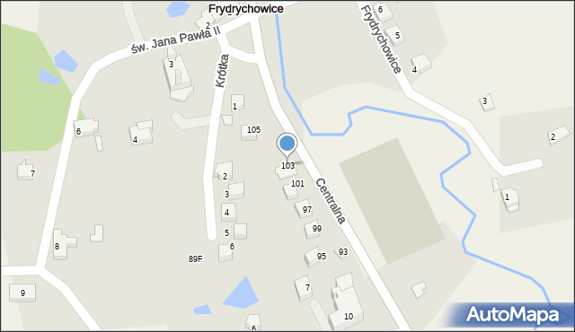 Frydrychowice, Centralna, 103, mapa Frydrychowice