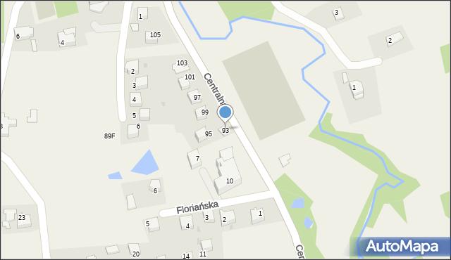 Frydrychowice, Centralna, 93, mapa Frydrychowice