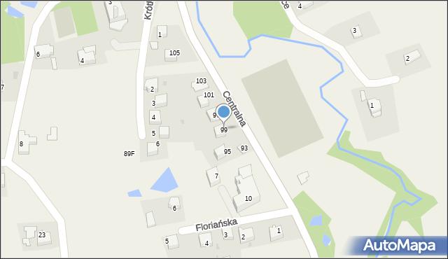 Frydrychowice, Centralna, 99, mapa Frydrychowice
