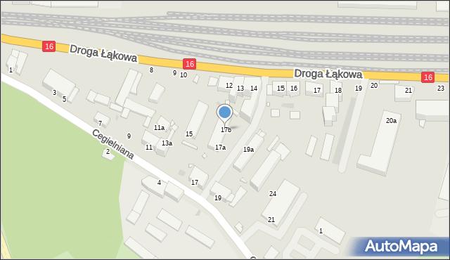 Grudziądz, Cegielniana, 17b, mapa Grudziądza