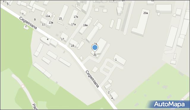 Grudziądz, Cegielniana, 21, mapa Grudziądza