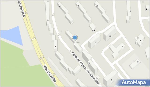 Grudziądz, Centrum Wyszkolenia Kawalerii, 1, mapa Grudziądza