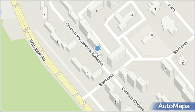 Grudziądz, Centrum Wyszkolenia Kawalerii, 3A, mapa Grudziądza