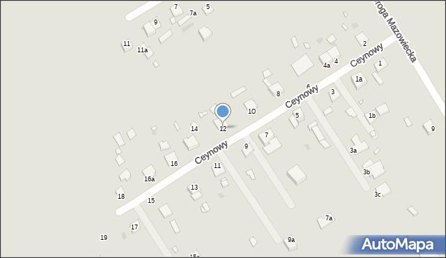 Grudziądz, Ceynowy Floriana, dr., 12, mapa Grudziądza