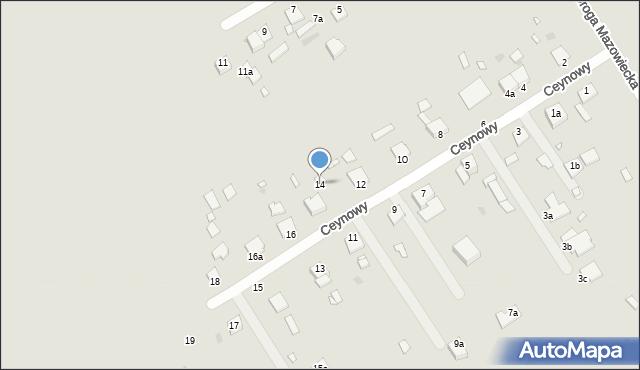 Grudziądz, Ceynowy Floriana, dr., 14, mapa Grudziądza