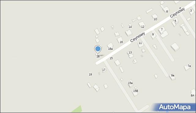 Grudziądz, Ceynowy Floriana, dr., 18, mapa Grudziądza