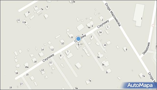 Grudziądz, Ceynowy Floriana, dr., 5, mapa Grudziądza
