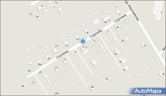 Grudziądz, Ceynowy Floriana, dr., 7, mapa Grudziądza