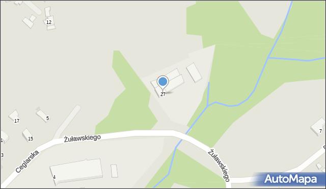 Limanowa, Ceglarska, 27, mapa Limanowa