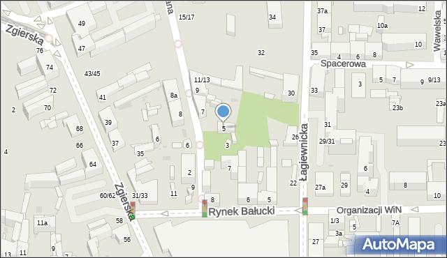 Łódź, Ceglana, 5, mapa Łodzi