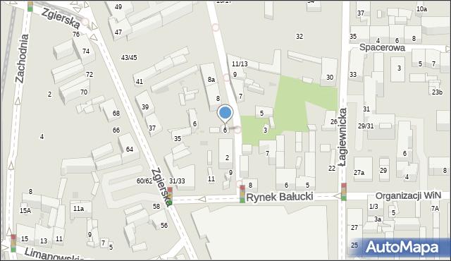 Łódź, Ceglana, 6, mapa Łodzi