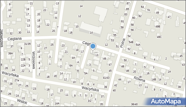 Radom, Ceglana, 15, mapa Radomia