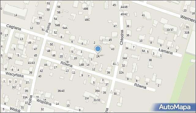 Radom, Ceglana, 1A, mapa Radomia