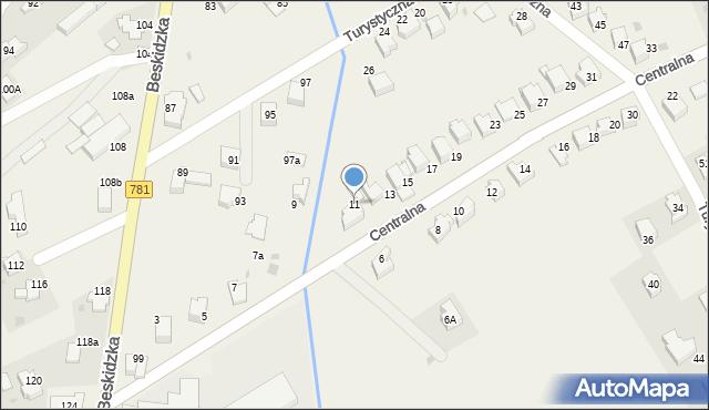 Sułkowice, Centralna, 11, mapa Sułkowice