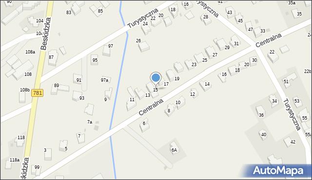 Sułkowice, Centralna, 15, mapa Sułkowice