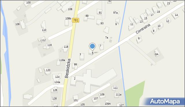 Sułkowice, Centralna, 5, mapa Sułkowice